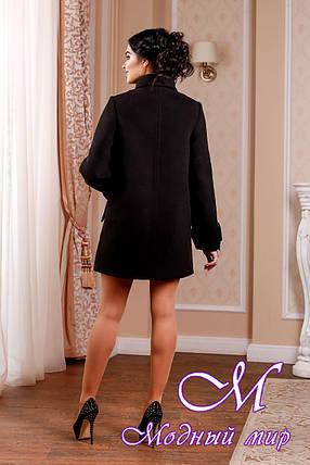 Женское кашемировое пальто черного цвета (р. 44-54) арт. 974 Тон 21, фото 2
