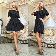 Платье в горошек с открытыми плечами , фото 3