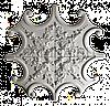 Розетка потолочная из гипса р-11 Ø1010