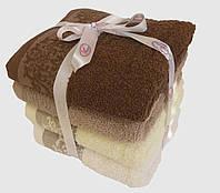 Махровое банное полотенце 140х70см (вензель)