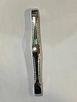 Мебельная ручка Узор 128 мм (цвет -хром)