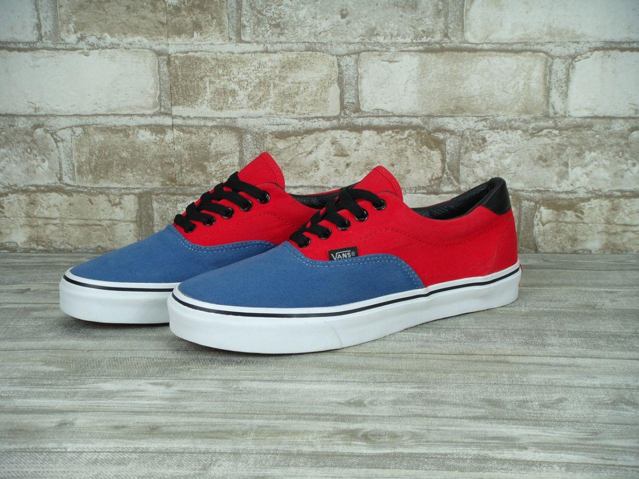 Кеды Vans Authentic Red Blue White Sole - Интернет-магазин «Reverie Shoes 9965abce174