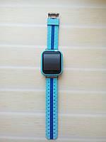 Детские Smart часы Q100S Blue GPS, Wi-Fi, cенсор