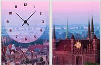 """Модульная картина-часы (60х40 см) """"Городской пейзаж"""""""
