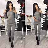 Женский модный вязаный костюм: свитер и брюки (3 цвета), фото 2