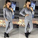 Женский модный вязаный костюм: свитер и брюки (3 цвета), фото 5
