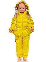 """Детский демисезонный костюм """"Ноль-резинка"""" для девочки (желтый)"""