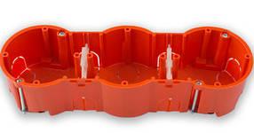 Коробка монтажная Bylectrica тройная для полых стен 207 х 66 х 47.4 мм (02-58-26)