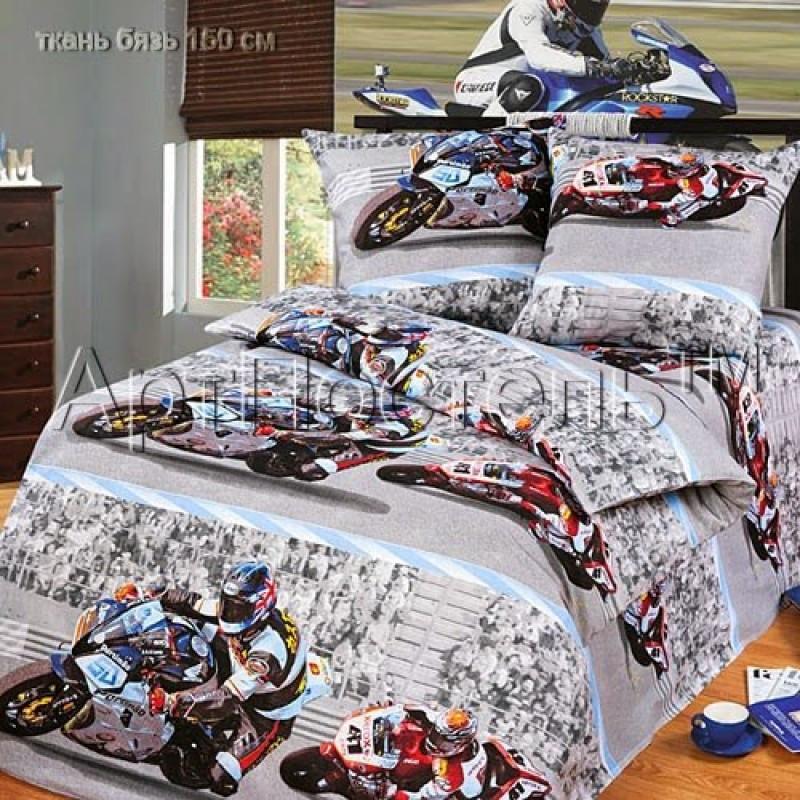 Постельное белье Супербайк бязь ТМ Царский дом в кроватку