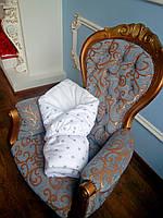 Одеяло для новорожденного «Млечный путь» белый