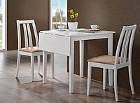 Обеденный стол Фишер раскладной, 750(+250)х750х750 (белый)