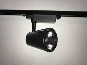 Светодиодный трековый светильник SL 4007L 30W 4000К черный Код.57122, фото 2