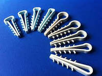 Крепеж для плоского кабеля (дюбель-елочка) (TUW8) (100шт.).