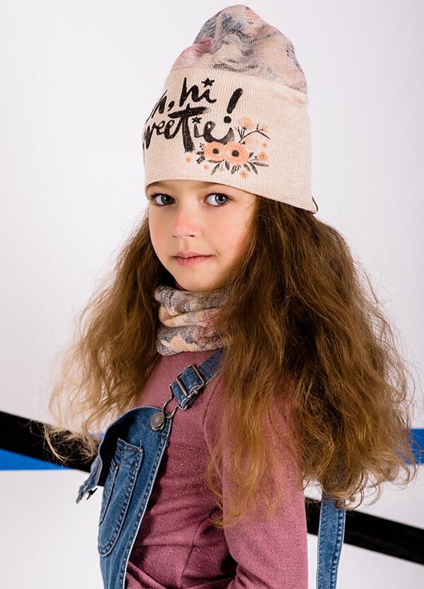 Детская шапка ВИРДЖИНИЯ (набор) для девочек оптом размер 50-52-54