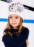 Детская шапка ЭСТЕЛА для девочек оптом размер 48-50-52