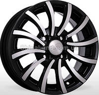 Литые диски Storm BK-243 BP 5.5x13/4x100 D67.1 ET35 (Black Polished)
