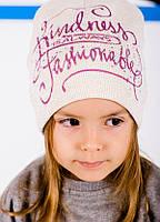 Детская шапка ЛУИЗА для девочек оптом размер 48-50-52