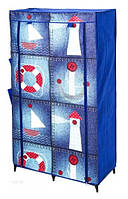 Шкаф гардероб тканевый на пять полок MARINE