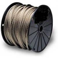 Трос нержавеющий Ф1мм, плетение 7х7 (мягкий)