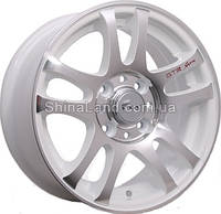Литые диски Storm SM-9806 WPRZ 5.5x13/4x98 D58.6 ET30 (White Polished with Red Sign)