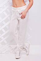 "Вязаные штаны ""Лилия"" (Белый)"