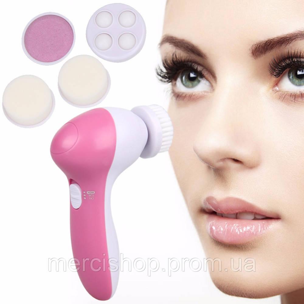 Массажер для лица 5 в 1 для глубокого очищения и деликатного массажа кожи