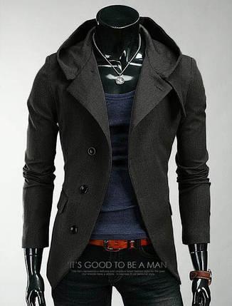 Серое кашемировое пальто мужское , фото 2