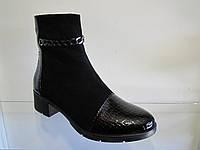 Ботинки женские замшевые на каблуке весна, осень