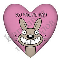 Подушка сердце Make me happy 15L033