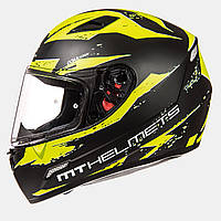 Мотошлем MT-Helmets MUGELLO Vapor Matt black fluor yellow size XS