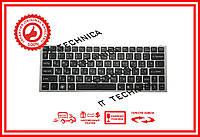 Клавиатура Sony Vaio VPC-YA VPC-YB черная с серебристой рамкой RUUS