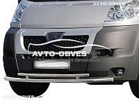 Двойная защита переднего бампера для Citroen Jumper 2006-2014