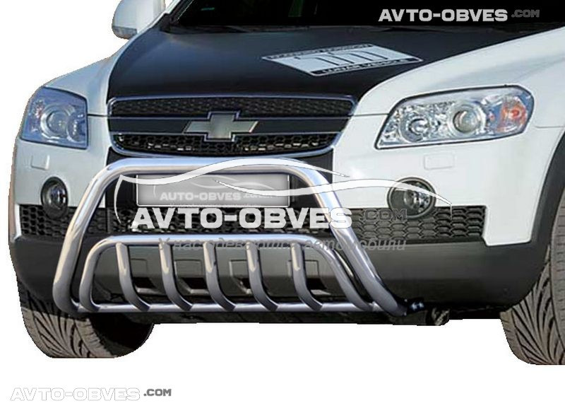 Передняя защита для Chevrolet Captiva I 2006-2012 двойной усиленный