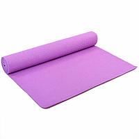 Коврик для йоги и фитнеса Zelart Yoga Mat 4мм (сиреневый) (FI-4986-2)