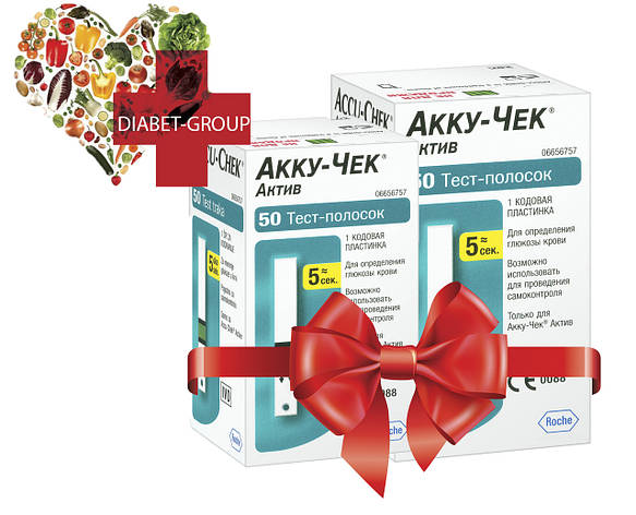 Тест-полоски Акку-Чек Актив 50 штук (Accu-Chek Active) 2 упаковки, фото 2