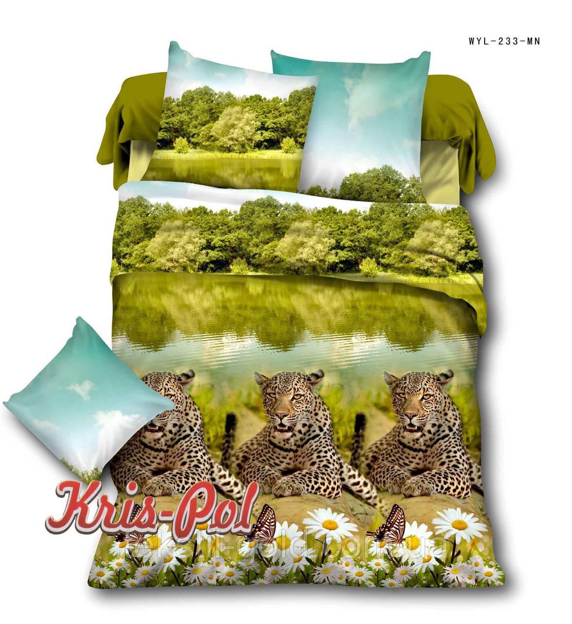 Комплект постельного белья полиэстер 3D ТМ KRIS-POL (Украина) полуторный 4985233