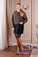 Элегантное женское двухцветное пальто (р. 44-58) арт. 995 Тон 102.105