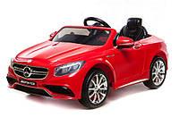 Эл-мобиль T-799 Mercedes S63 AMG RED легковая на р.у. 6V7AH с MP3 120*70*52 ш.к.