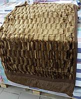 Покрывало/плед (искусственный мех) 200*230 Норка (коричневый) 2,6кг