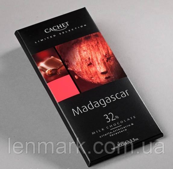Молочный шоколад CACHET  Milk  Madagascar 32 % какао (Кашет Мадагаскар)  100 г