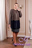 Элегантное женское демисезонное пальто (р. 44-58) арт. 995 Тон 102.106