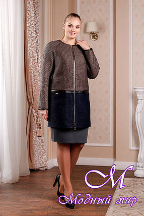 Элегантное женское демисезонное пальто (р. 44-58) арт. 995 Тон 102.106, фото 2