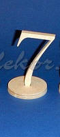 Цифра 7 (высота 10см.) заготовка для декора