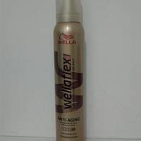 Мусс для волос Wellaflex Anti Aging 200 мл. (Велла  объем и здоровье для тонких волос суперсильная фиксация)