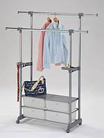 Стойка для одежды мобильная с пластиковыми выдвижными ящиками W-69 аналог CH-4618
