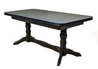 Раскладной обеденный стол из натуральной древесины, производства мебельной фабрики Скиф. Модель СТ-1