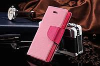 Нежно-розовый чехол-книжка для Iphone 4/4S на магнитной застежке и с ремешком на руку