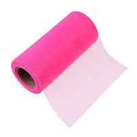 Фатин Розовый Сетка 15 cм 1 метр