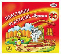 Пластилин Гамма Мультики 10 цветов 200 грамм стек 280017 (Россия)