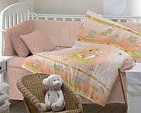 """Постельная ткань для детей (Бязь, 150см) """"Слоники"""""""